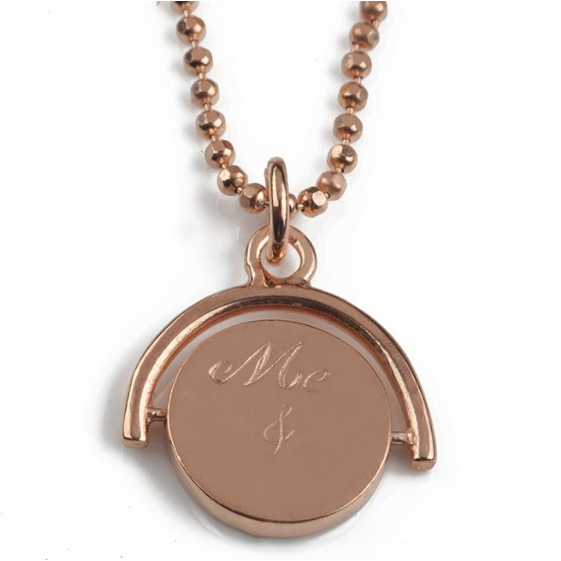 Me & You Spinning Pendant in Rose Gold