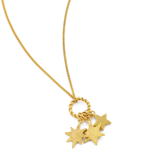 Triple Star Pendant in Gold