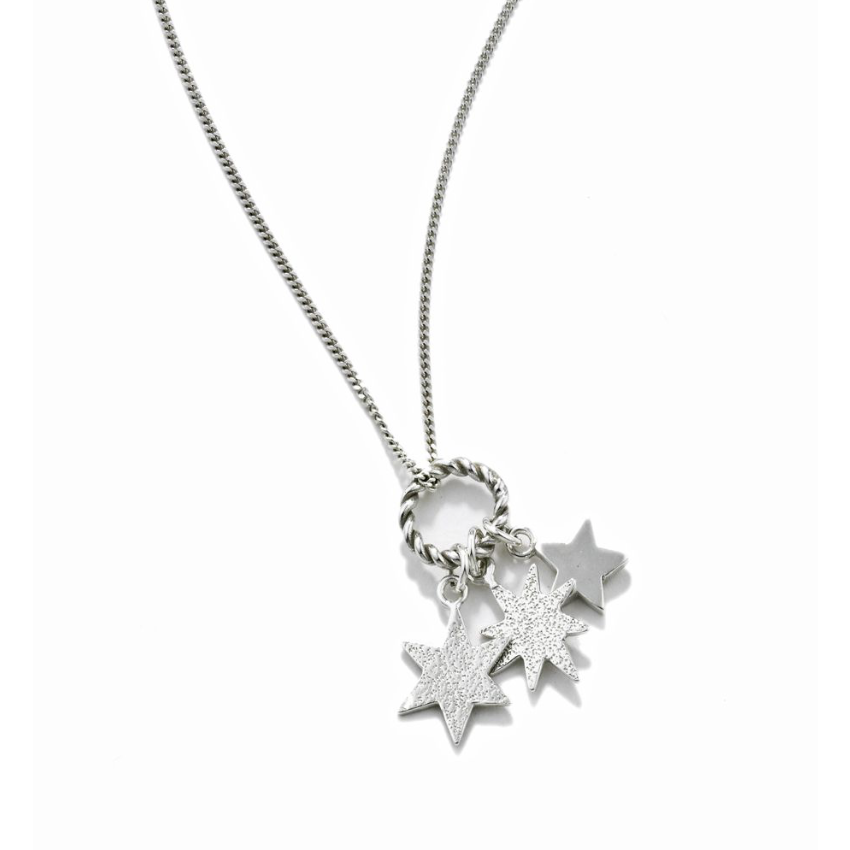 Triple Star Pendant in Silver