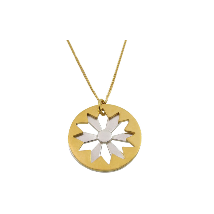 Sunburst Pendant in Gold