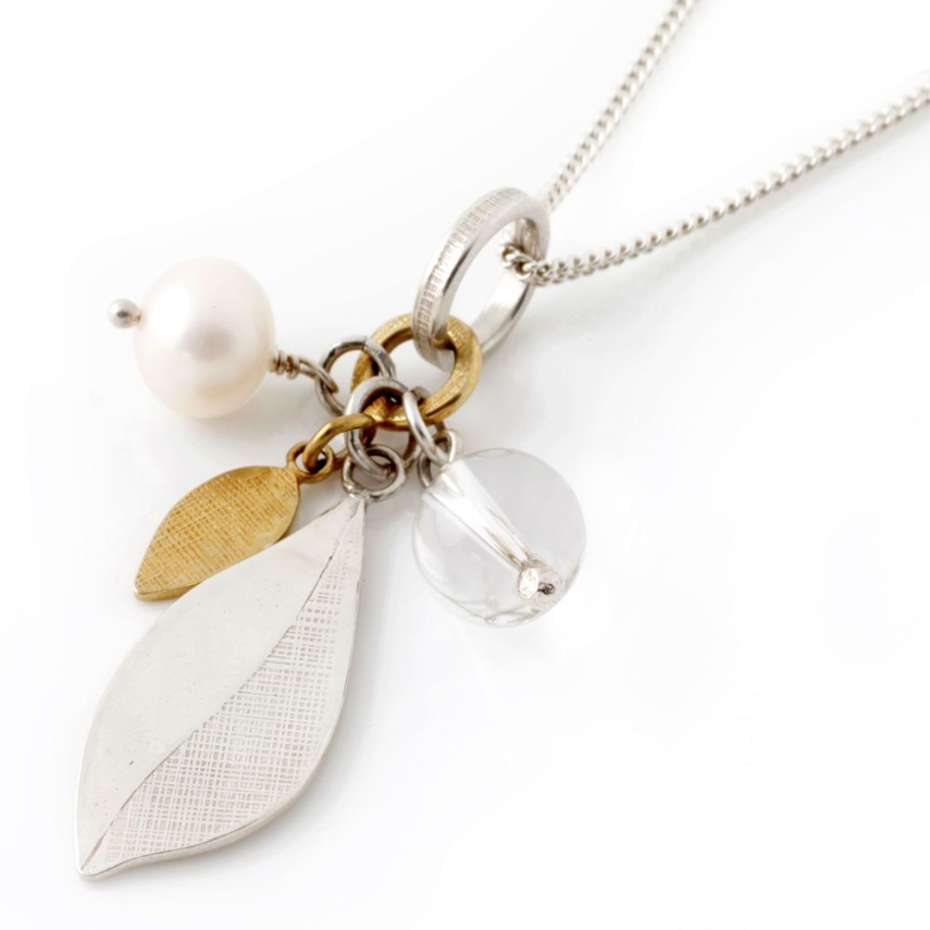 Leaf Pendant in Silver