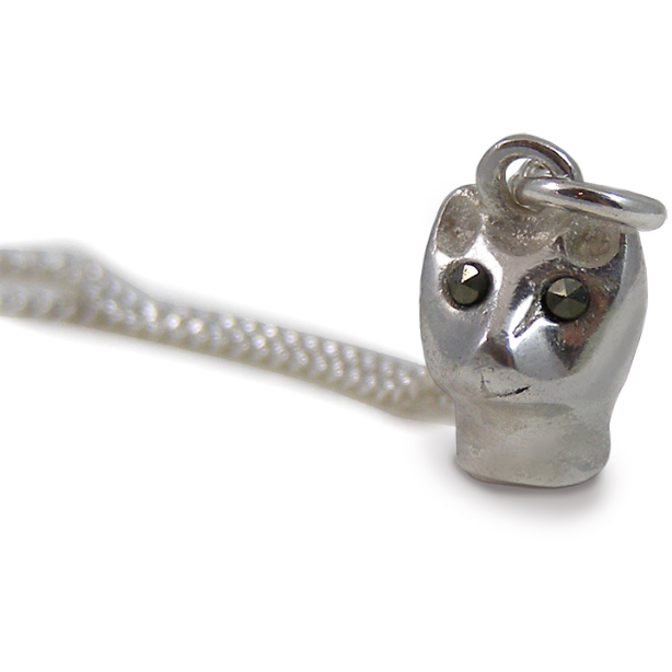 Cat Pendant in Silver