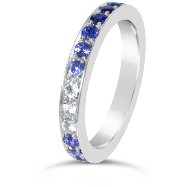 Sapphire Eternity Ring in White Gold