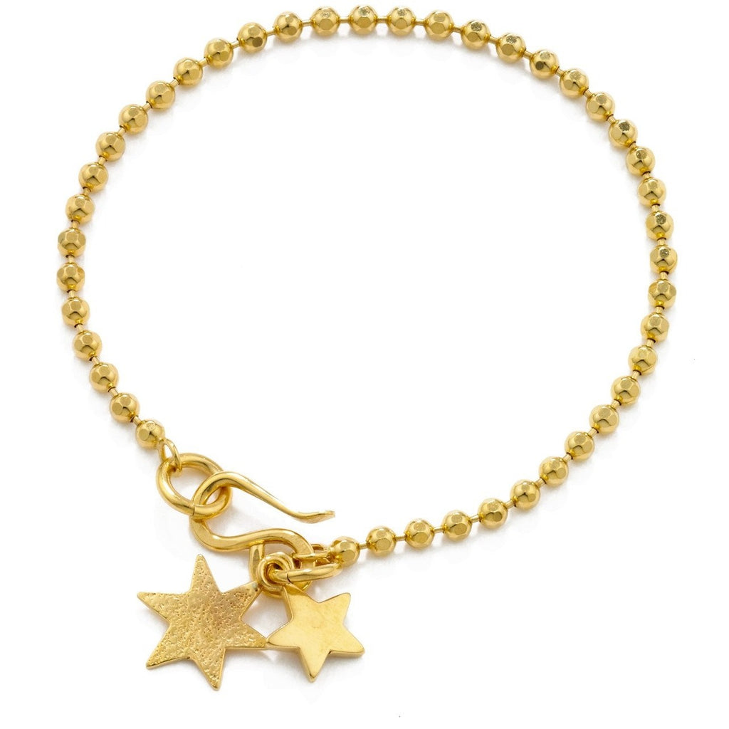 Double Star Bracelet Gold