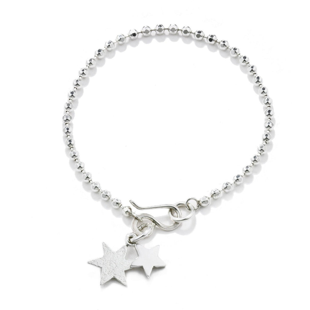 Double Star Bracelet in Silver
