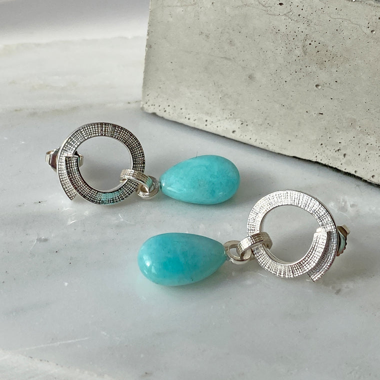 Amazonite Swirl Earrings