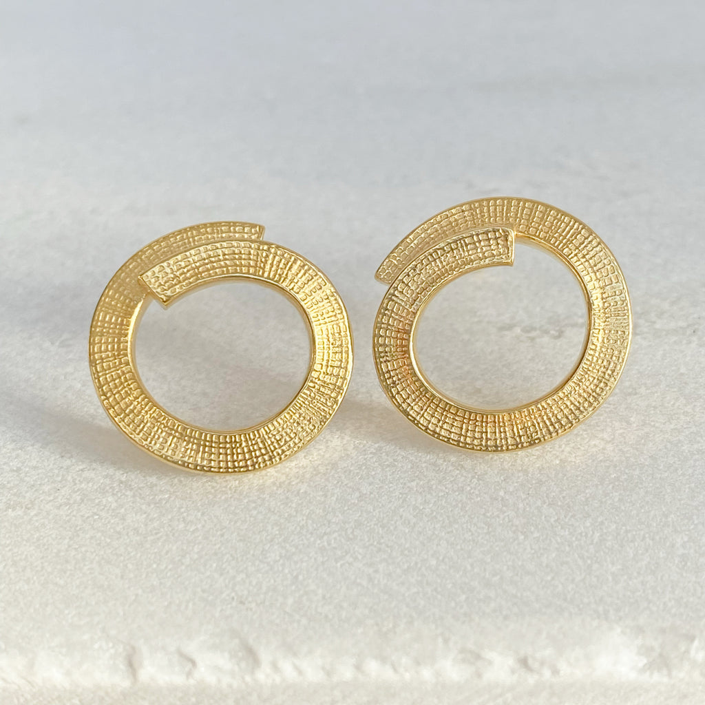 Swirl Gold Earrings
