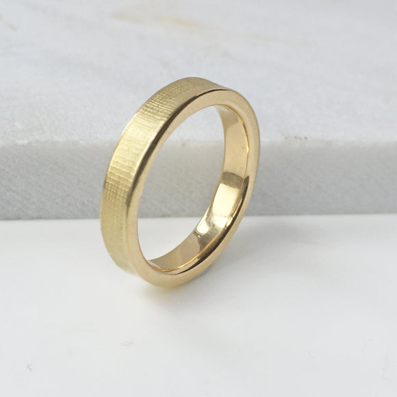 Textured Wedding Ring