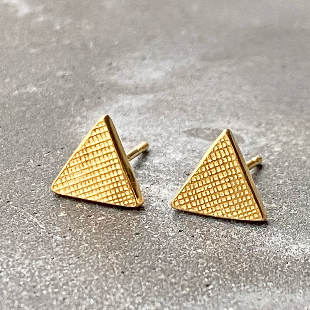 Triangle Stud Earring Yellow Gold