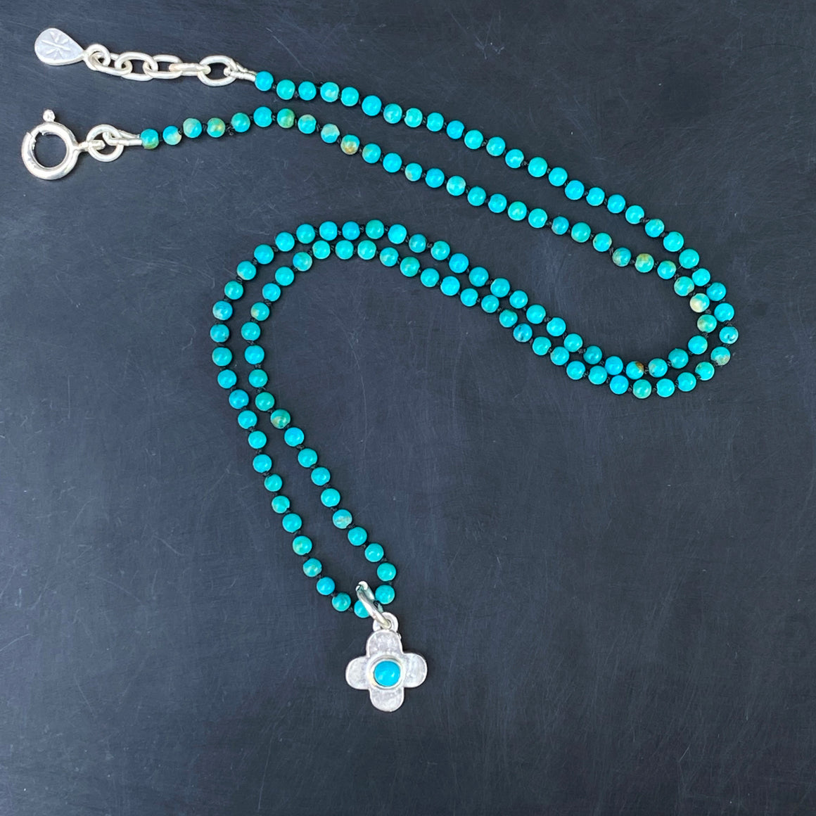 Turquoise Clover Necklace