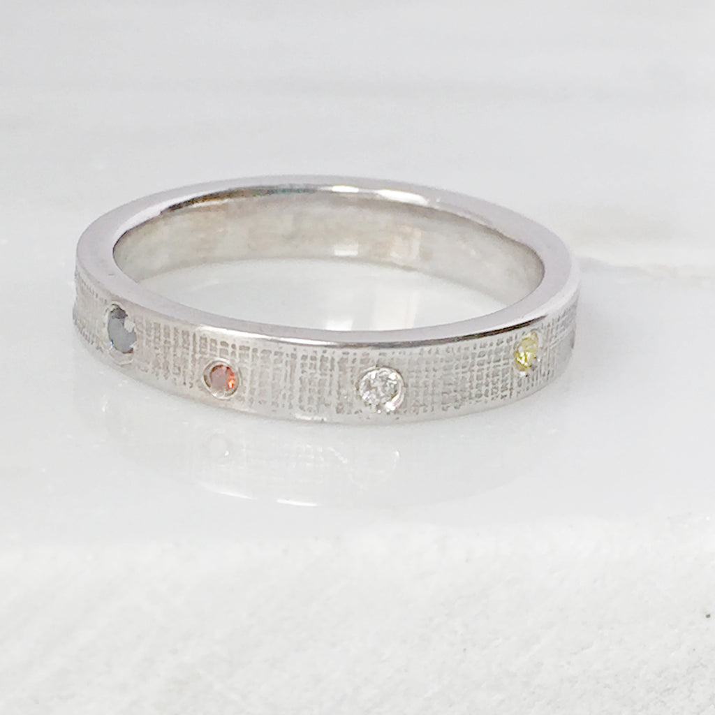 Wedding Eternity Ring With Mixed Diamonds