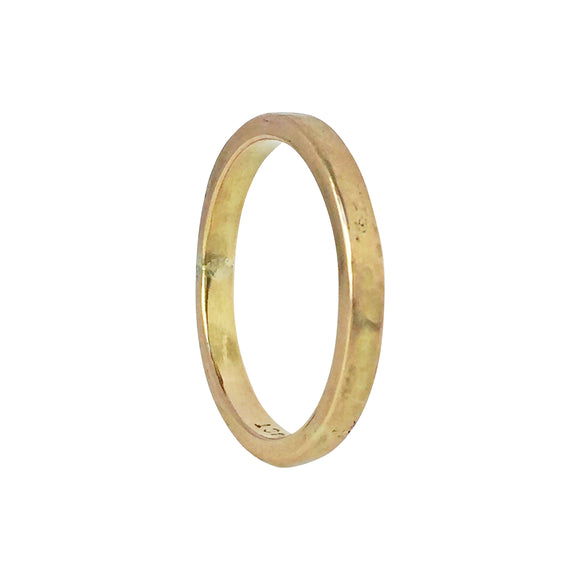 Rustic Gold Wedding Band
