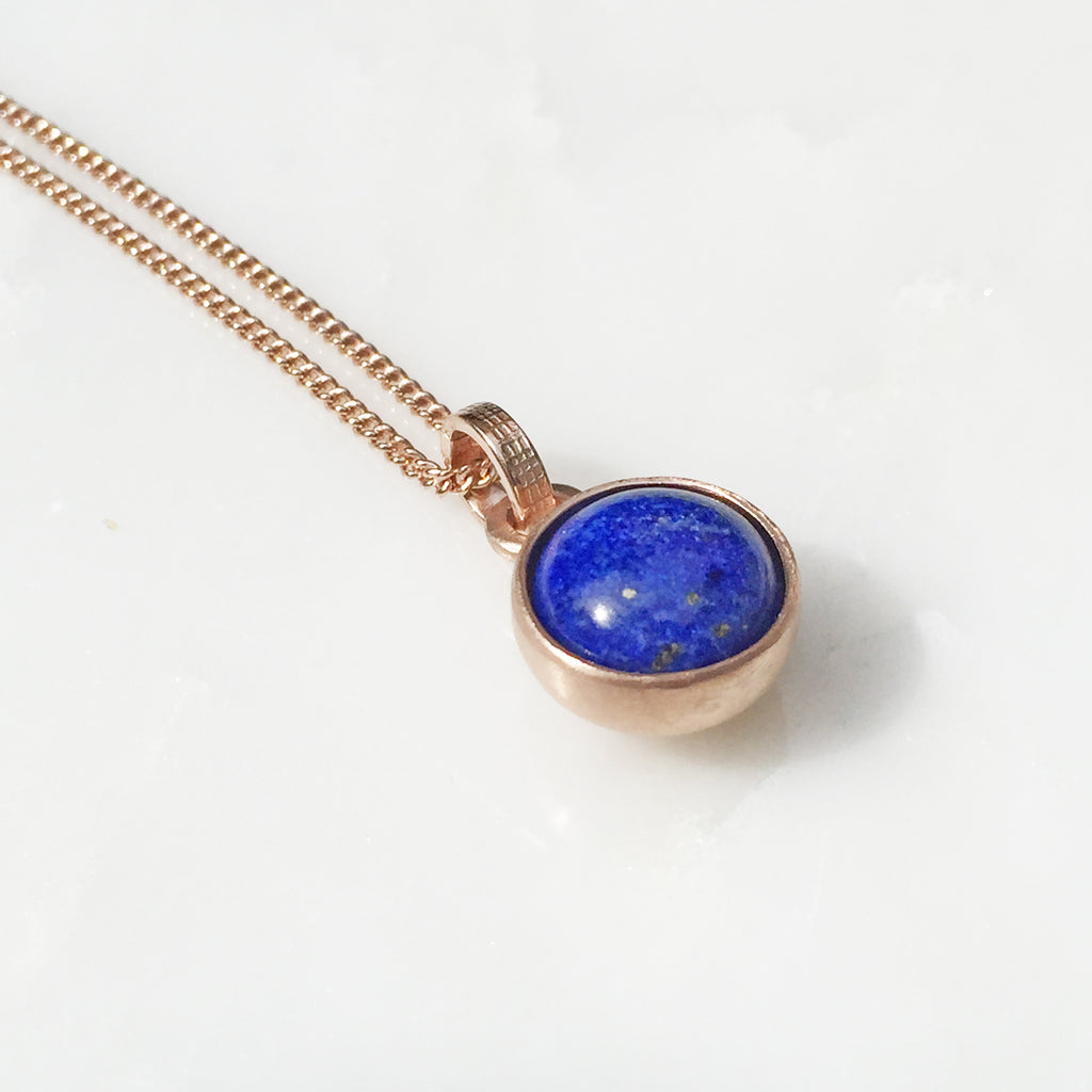 Birthstone Lapis Rose Pendant September