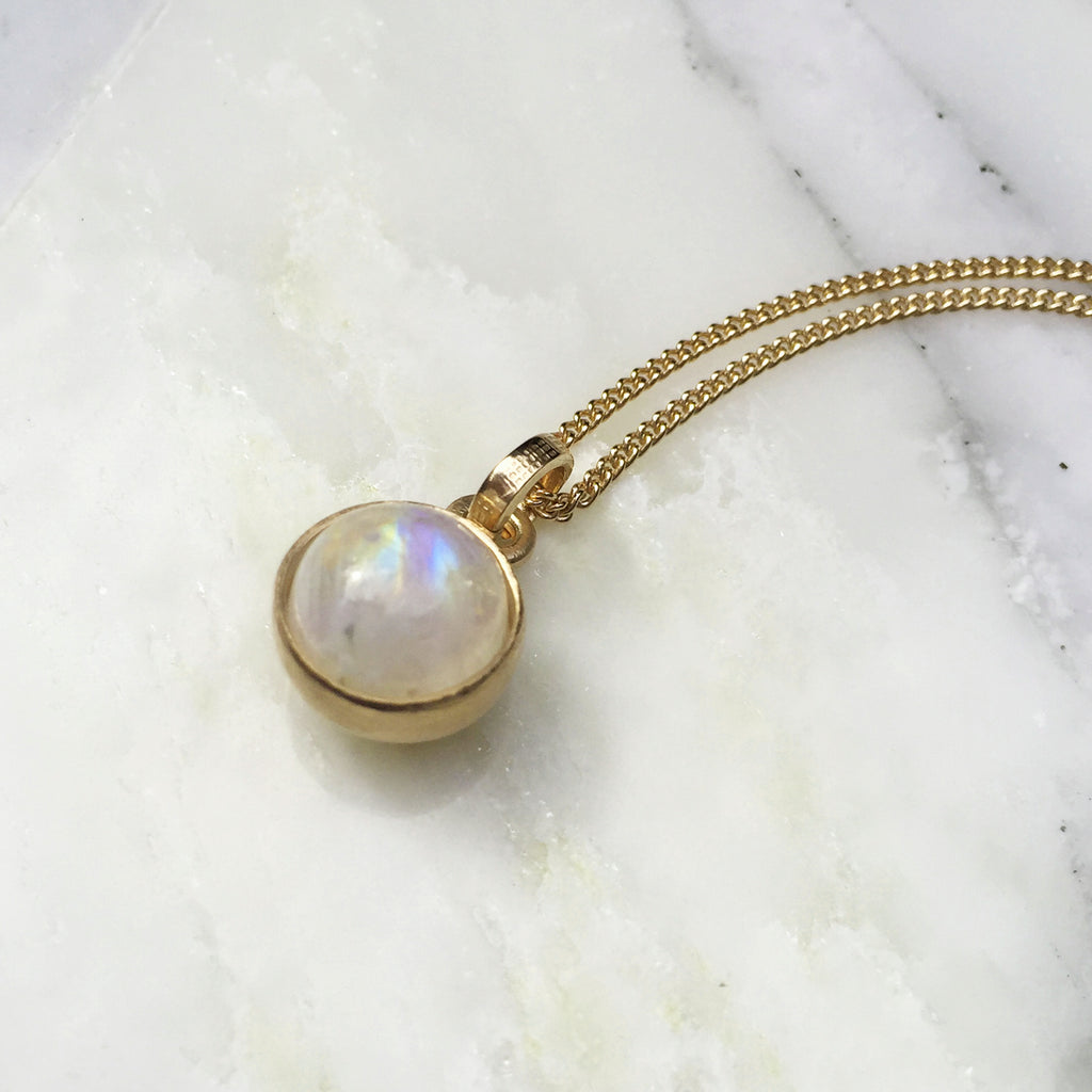 Birthstone Moonstone Pendant June