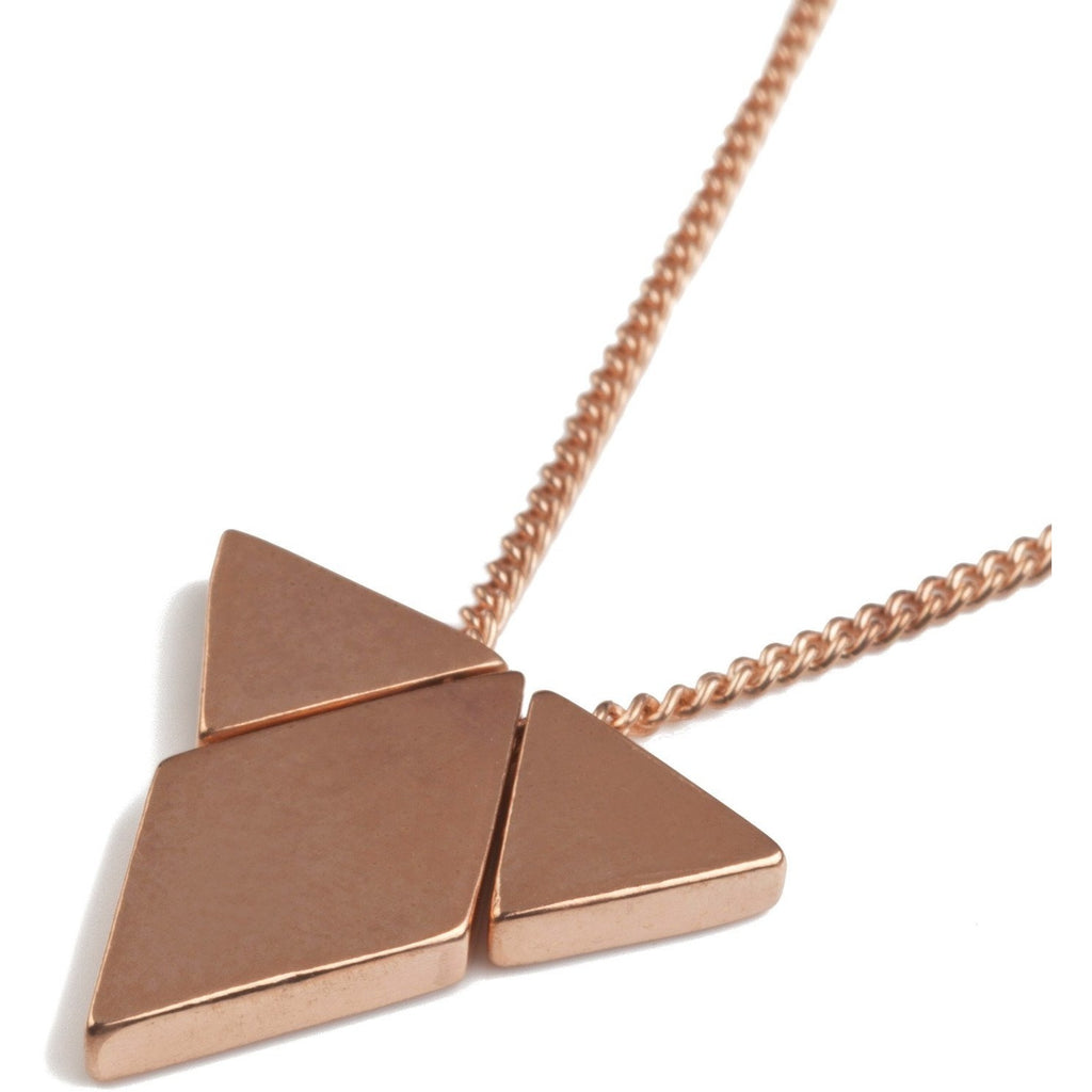 Diamond Triangle Pendant  in Rose Gold