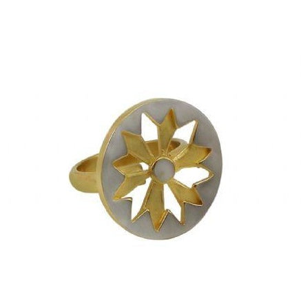 Sunburst Ring in Gold