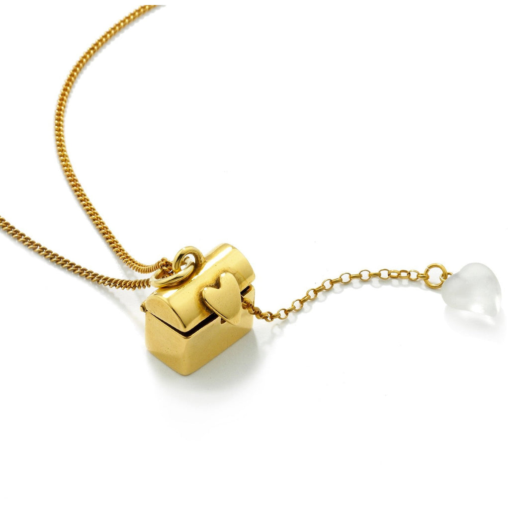 Treasure Chest Pendant in Gold