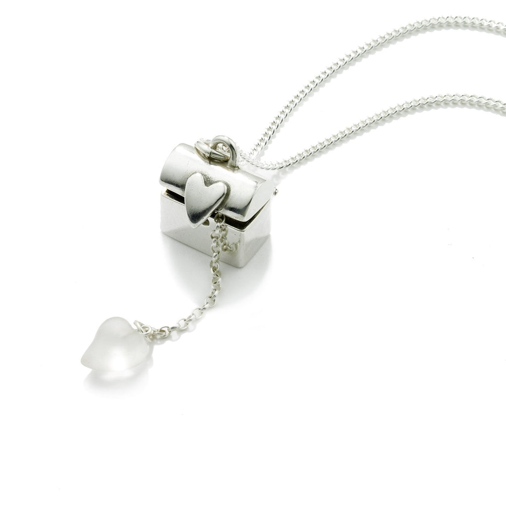 Treasure Chest Pendant in Silver