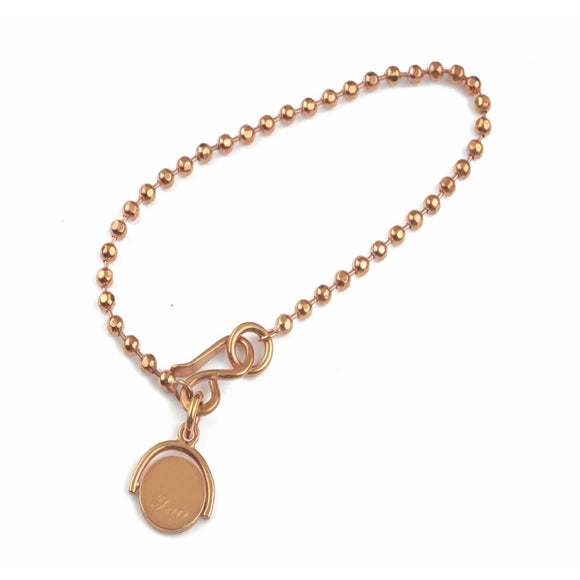 """Me & You"" Spinning Rose Gold Bracelet"