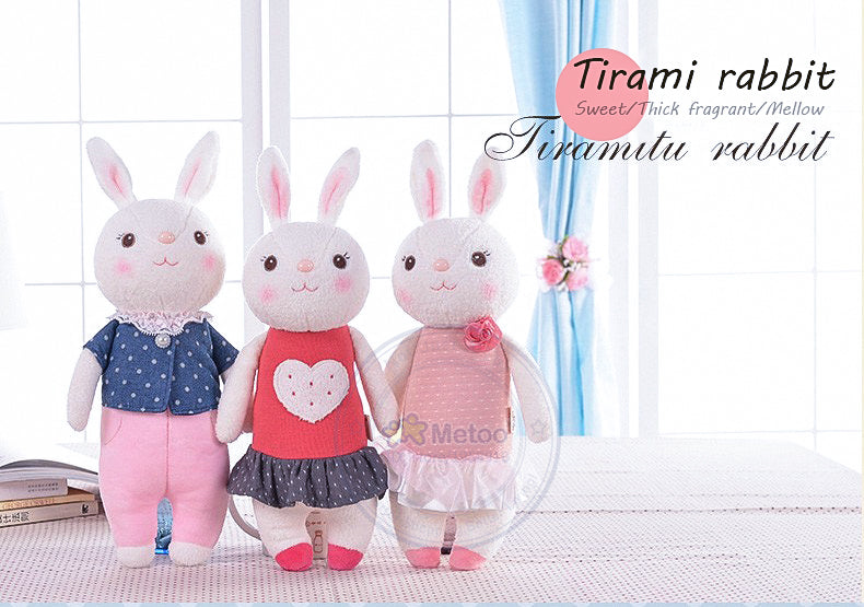 Metoo Plush Sweet Stuffed Toy Tiramitu Rabbits Mini Metoo Doll for Kids
