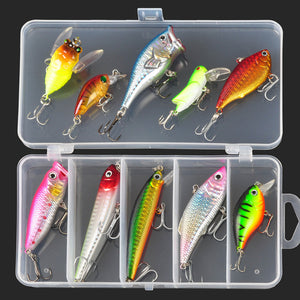 Minnow/Popper/Wobble Fishing LureSpoon Metal Soft Bait ALLBLUE