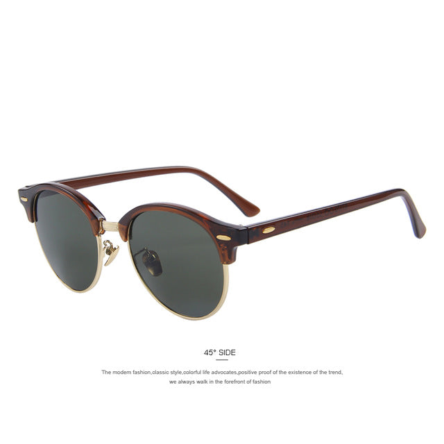 MERRY'S Men Retro Rivet Polarized Sunglasses Classic Brand Designer