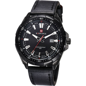 NAVIFORCE Waterproof Quartz Men Military Leather Sports Watch
