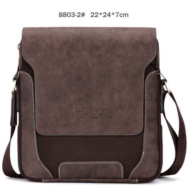 VICUNA POLO Vintage Casual Patchwork Durable Oxford Man Bag