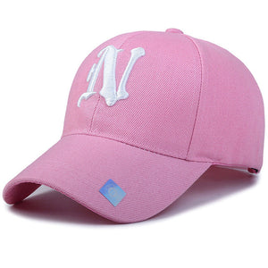 Solid N Letter Embroidered Baseball Cap
