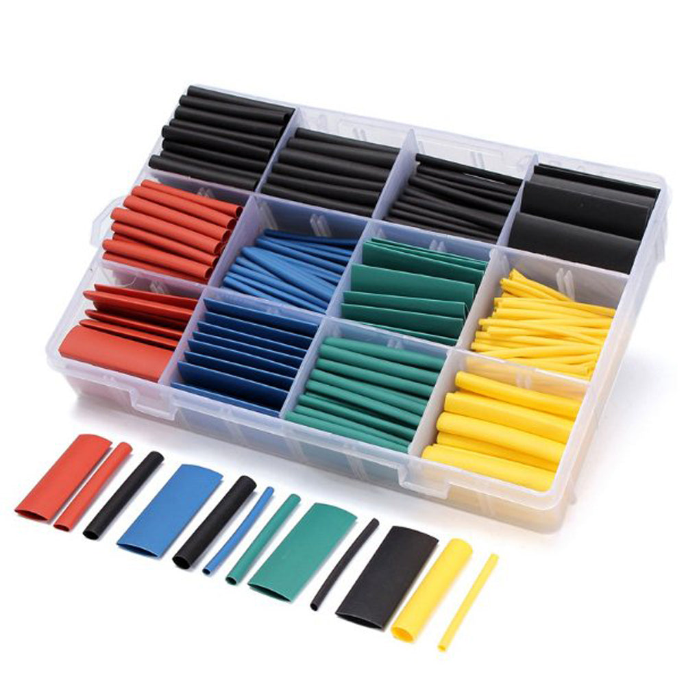 530 pcs/set Heat Shrink Tubing Insulation Shrinkable Tube Assortment