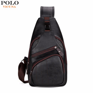 VICUNA POLO Extra Large Size Fashion Mens Shoulder Bag Burglarproof