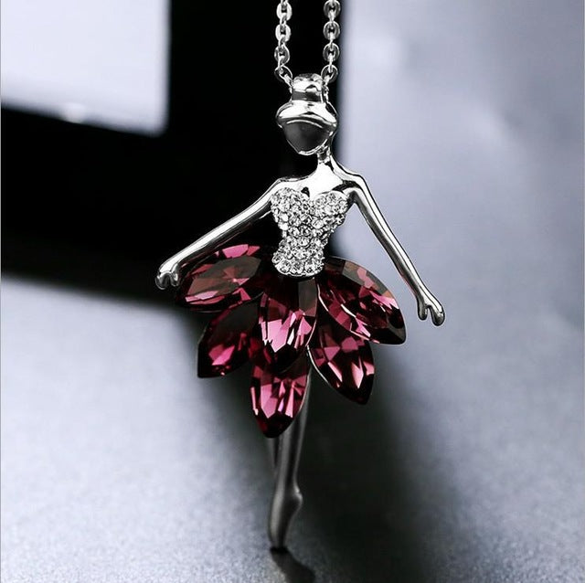 Dominated Female Ballet Sweater Chain Length Pendant Necklace