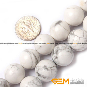 Round White Howlite Beads Natural DIY Loose Beads For Jewelry Making