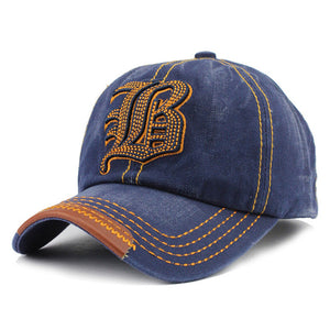 FLB Cotton Embroidery Letter W Baseball Snapback Cap