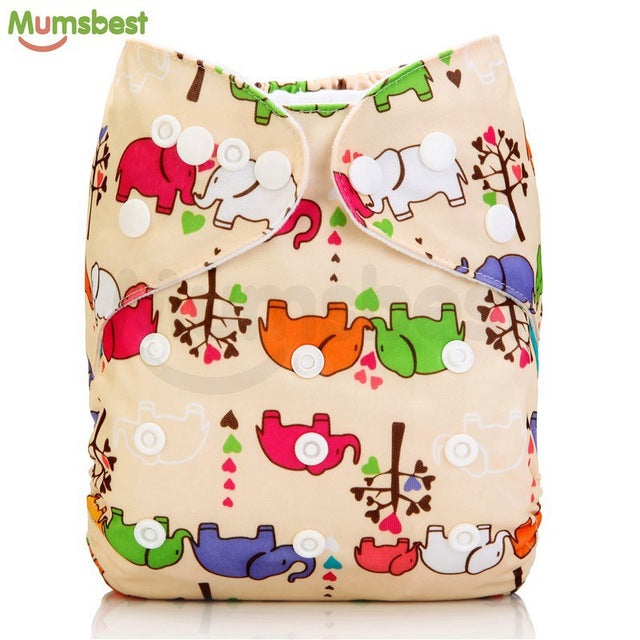0-2YEARS 3-13KG Baby Washable Cloth Diaper Cover Cartoon Animal Adjustable