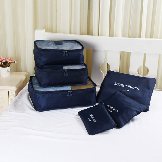 6PCS/Set Oxford Cloth Travel Mesh Bag Luggage Organizer