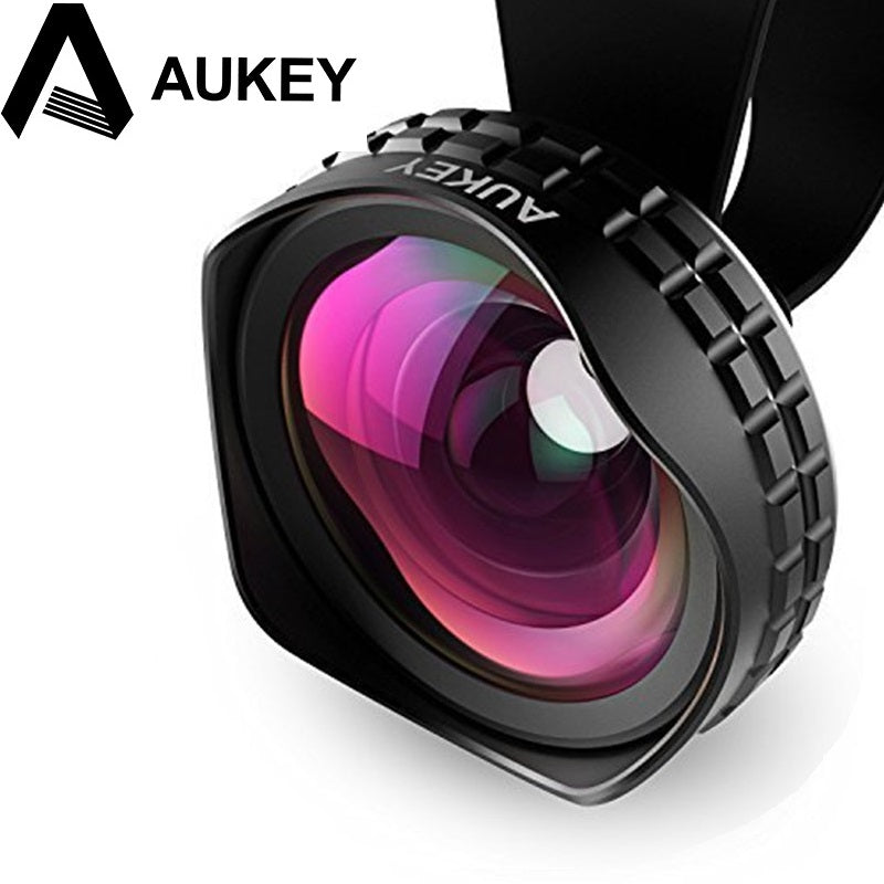 AUKEY Lens 18MM HD Wide Angle Optic Pro Lens Cell Phone Camera Lens Kit 2X