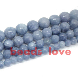 Natural Angelite Loose Spacer Beads For Jewelry Making