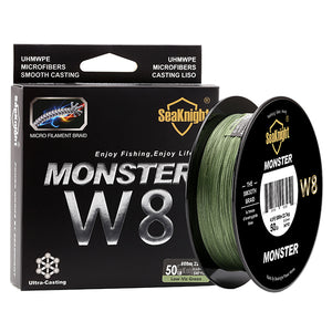 SeaKnight 500M MONSTER W8 Braided Fishing Line 8 Strands 20 30 40 50 80 100LB