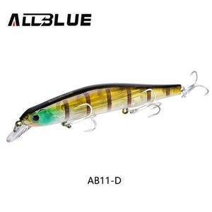 17.5g/110mm Fishing Lure Wobbler Suspend Minnow Pike Bass 6# ALLBLUE