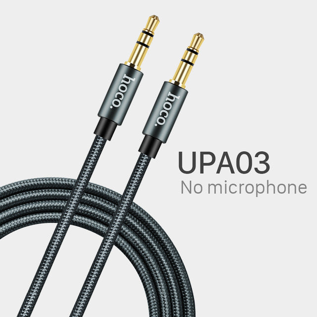 HOCO Aux with Microphone 3.5mm Jack Male to Male Audio Cable