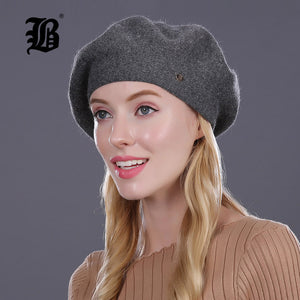 FLB Beret Winter Knitted Cotton Hat