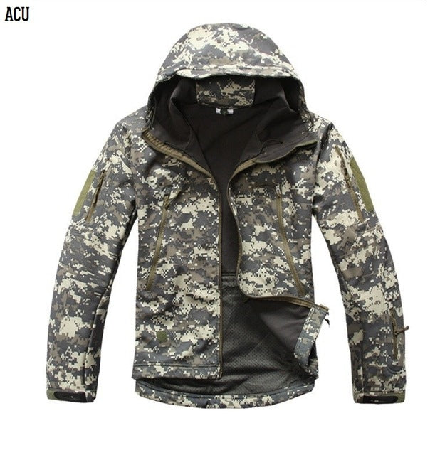 Soft Shell V4 Military Tactical Jacket Men Warm Coat Camouflage