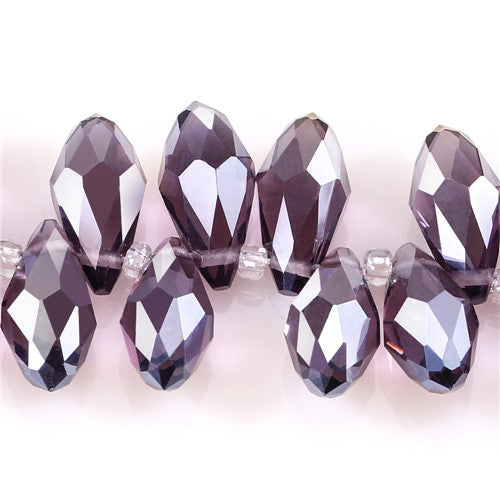 Austria AAA Mala Hole Glass Bead For Jewelry Making Bracelet DIY 6*12MM
