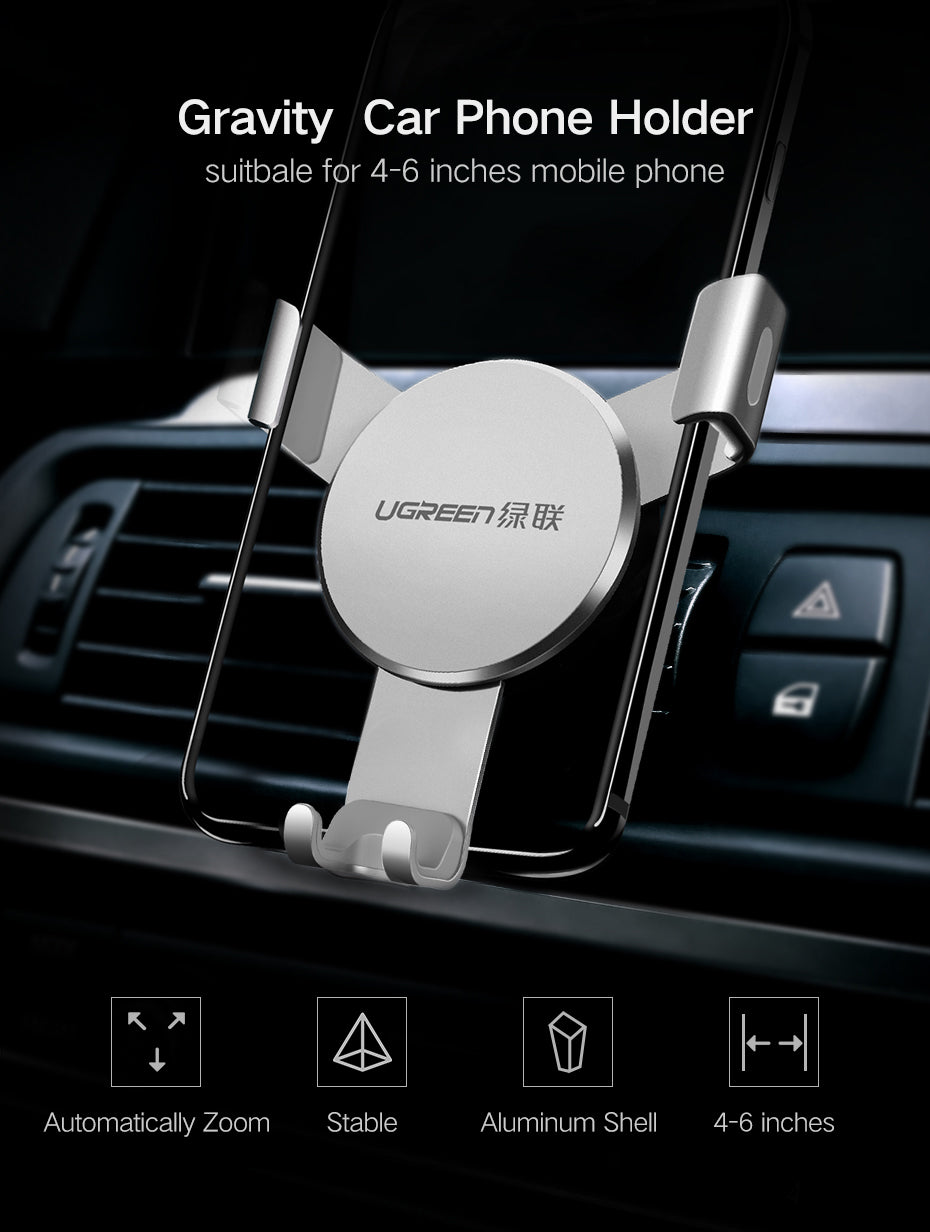 Ugreen Universal  Air Vent Mount Gravity Reaction Car Phone Holder