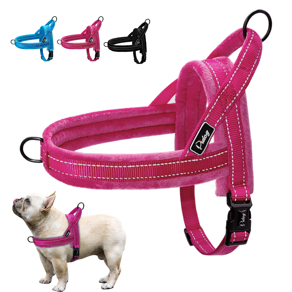 Nylon Dog Harness Soft Padded Reflective Pet Harnesses Vest  Adjustable XS S M L