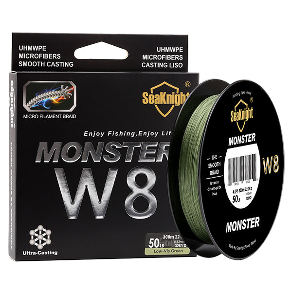 W8 300M 8 Strands Fishing Line Multifilament PE 8 Weaves Monster