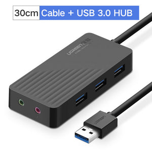 Ugreen All in One USB Sound Card 3.0 2.0 to HUB External 3.5mm Audio Adapter