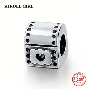 100% 925 Sterling Silver Charm Beads Fit Authentic Pandora Bracelet
