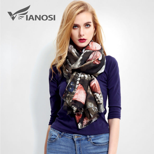 Foulard Luxury Cotton Viscose Scarf VIANOSI